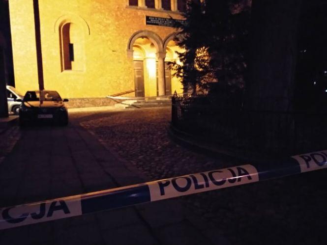 Prace policji w parafii św. Augustyna