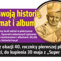 Wygraj numizmat i album Jana Pawła II!